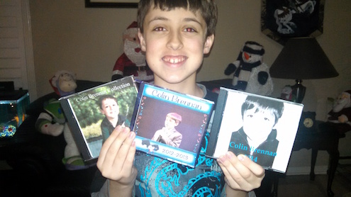 Colin with his albums