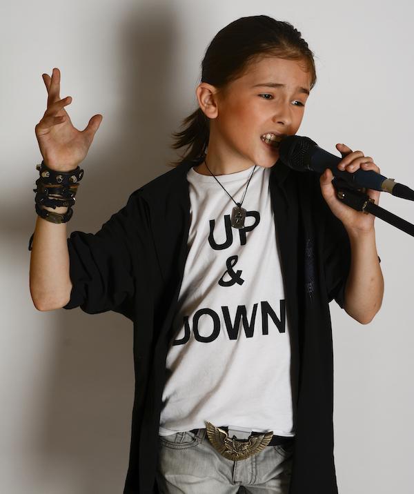 Theo singing